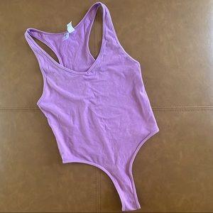 American Apparel Racerback Thong Bodysuit